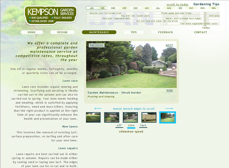 Click to view the Kempson Garden Services site