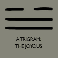 'The Joyous' hexagram from the I Ching